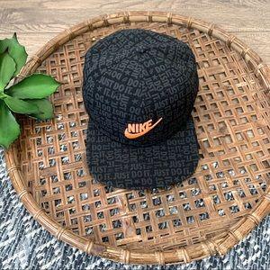 Nike Black Orange Sportswear Pro JDI Flat Bill Cap